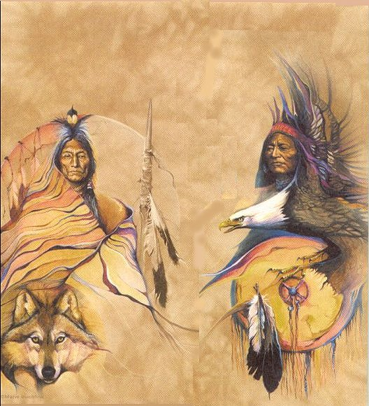 Indians with Animal Totems