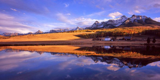 Last Dollar Ranch Reflection. San Miguel County near Ridgway, Colorado