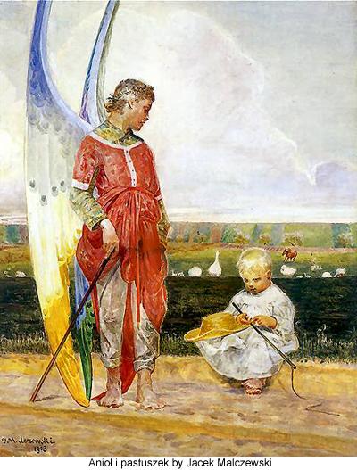 Aniol i pastuszek by Jacek Malczewski