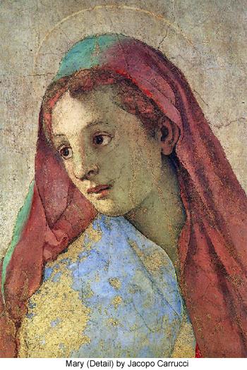 Mary (detail) by Jocopo Carrucci