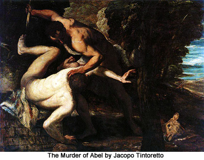 The Murder of Abel by Jacopo Tintoretto