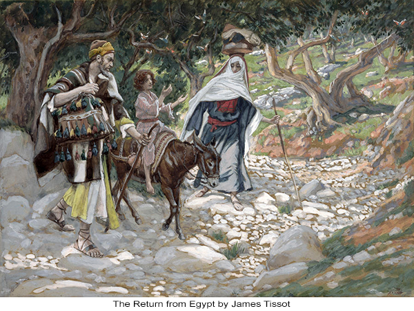 The Return from Egypt by James Tissot