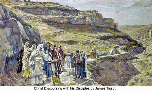 Christ Discoursing with his Disciples by James Tissot