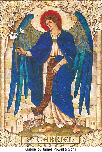 Archangel Gabriel by James Powell and Sons