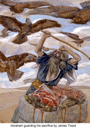 Abraham guarding his sacrifice by James Tissot