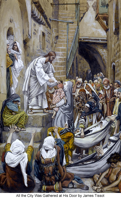 All the City Was Gathered at His Door by James Tissot