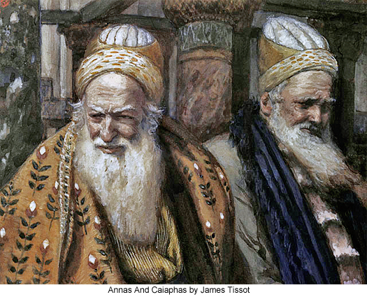 Annas And Caiaphas by James Tissot