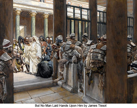 But No Man Laid Hands Upon Him by James Tissot