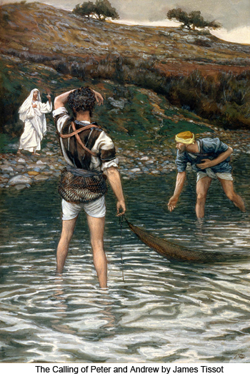 Calling of Peter and Andrew by James Tissot