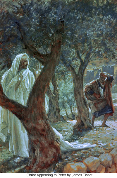 Christ Appearing to Peter by James Tissot