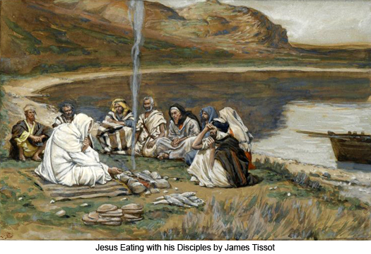 Jesus Eating with his Disciples by James Tissot