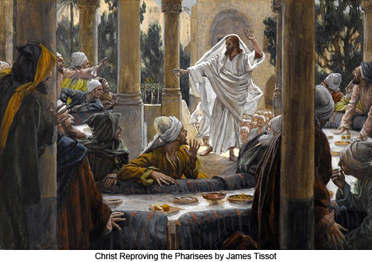 Christ Reproving the Pharisees by James Tissot