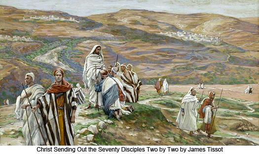 Christ sending out the seventy by James Tissot