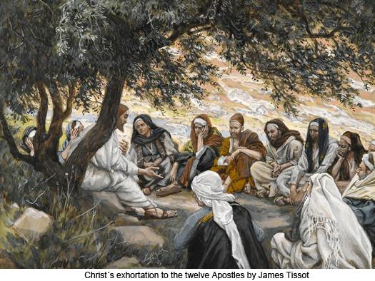 Christ's exhortation to the twelve Apostles by James Tissot