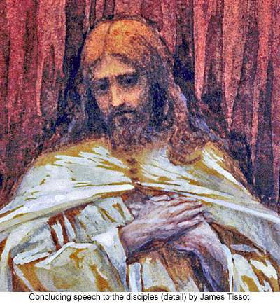 Concluding speech to the disciples (detail) by James Tissot