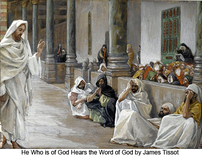 He Who is of God Hears the Word of God by James Tissot