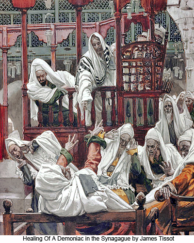 Healing Of A Demoniac in the Synagogue by James Tissot