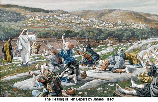 Healing of the Ten Lepers by James Tissot