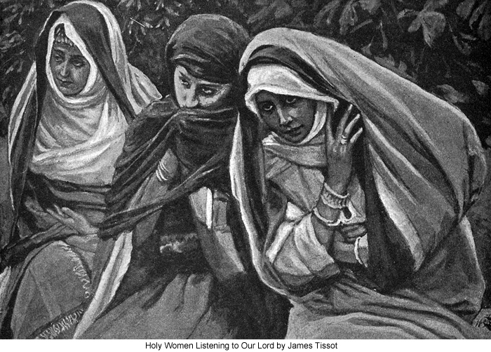 Holy Women Listening to Our Lord by James Tissot