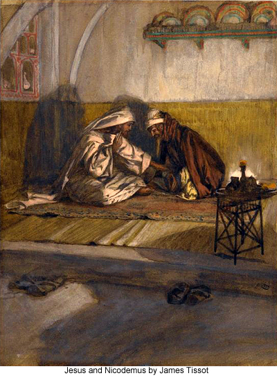 Jesus and Nicodemus by James Tissot