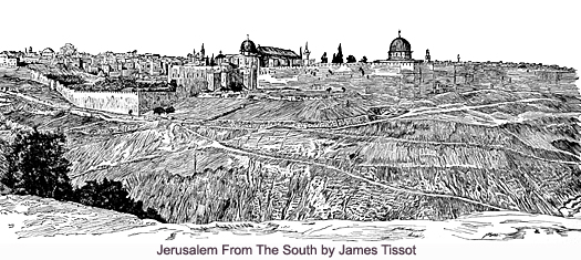 Jerusalem from the South by James Tissot