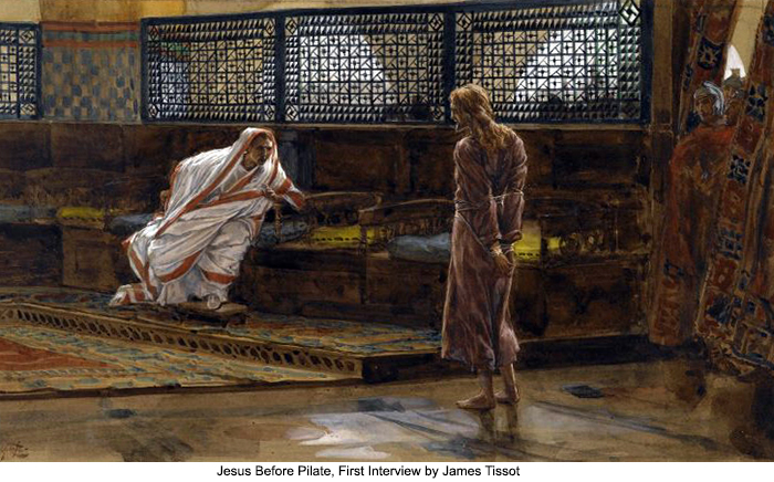 Jesus Before Pilate, First Interview by James Tissot