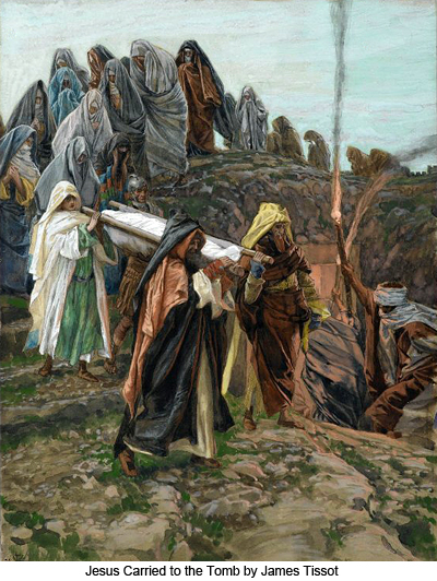 Jesus Carried to the Tomb by James Tissot
