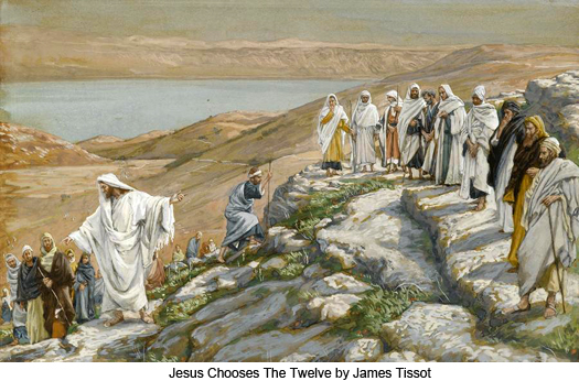 Jesus Chooses The Twelve by James Tissot