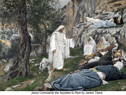 Jesus Commands His Apostles to Rest by James Tissot