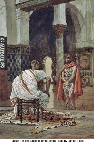 Jesus For the Second Time Before Pilate by James Tissot