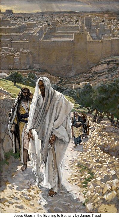 Jesus Goes to Bethany in the Evening by James Tissot