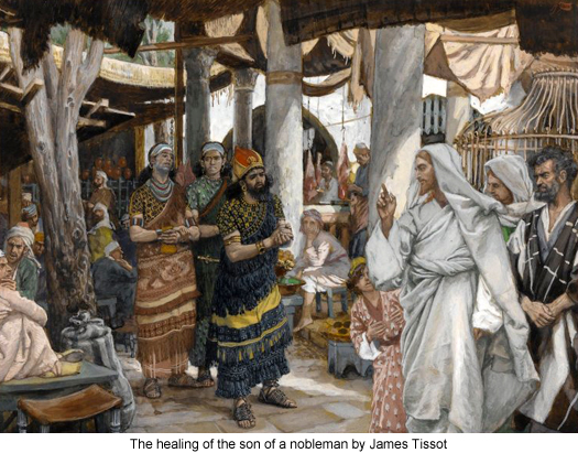 Jesus Heals the Son Of A Nobleman by James Tissot