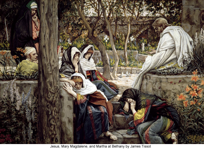 Jesus, Mary Magdalene, and Martha at Bethany by James Tissot