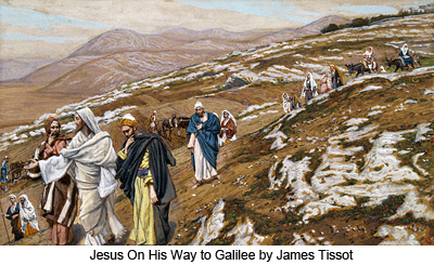 Jesus On His Way to Galilee by James Tissot