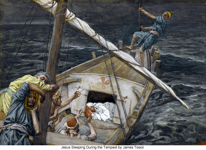 Jesus Sleeping During the Tempest by James Tissot