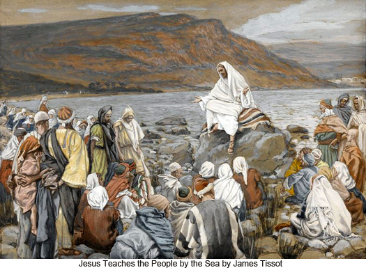 Jesus Teaching by the Seashore by James Tissot