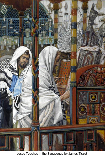 Jesus Teaching in the Synagogue by James Tissot