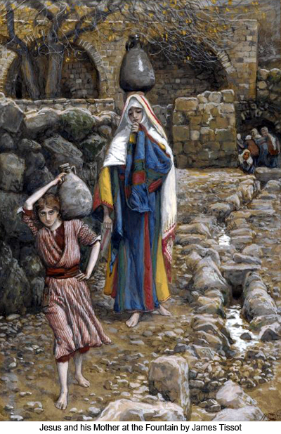 Jesus and His Mother at the Fountain by James Tissot