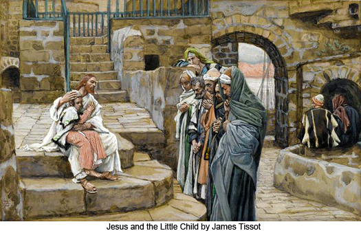 Jesus and the Little Child by James Tissot