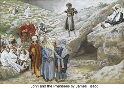 John and the Pharisees by James Tissot