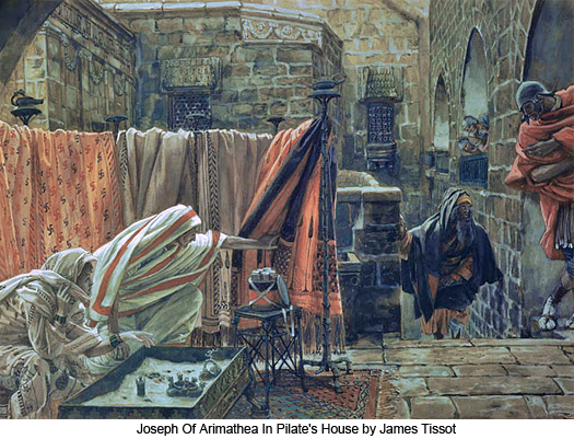 Joseph of Arimathea in Pilate's House by James Tissot