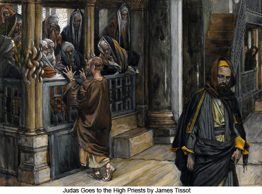 Judas Goes to the High Priests by James Tissot