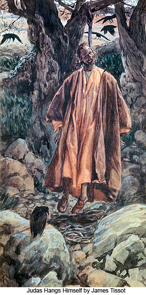 Judas Hangs Himself by James Tissot