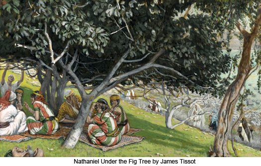 Nathaniel under the Fig Tree by James Tissot