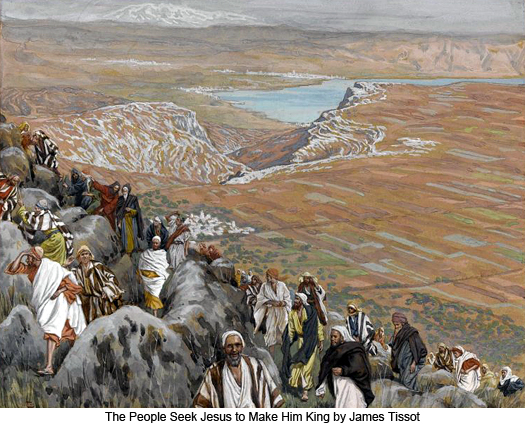 People Seek Christ to Make Him King by James Tissot