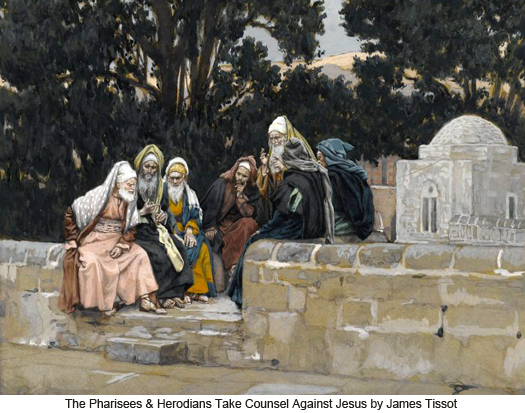 Pharisees and Herodians by James Tissot