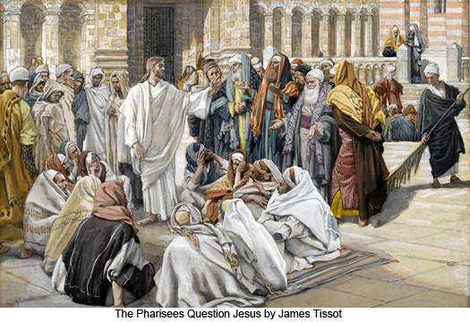 Pharisees Question Jesus by James Tissot