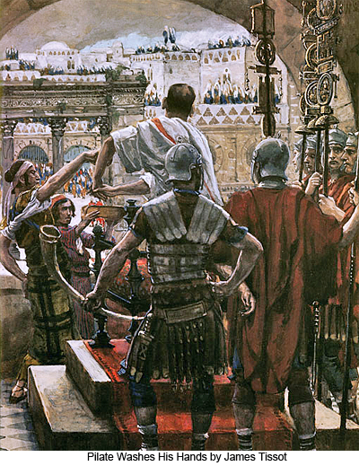 Pilate Washes His Hands by James Tissot