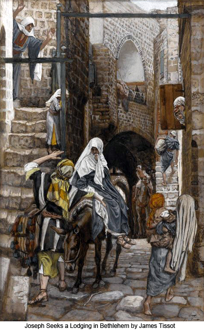 Joseph Seeks a Lodging at Bethlehem by James Tissot