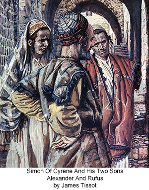 Simon of Cyrene and His Two Sons Alexander and Rufus by James Tissot